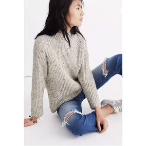 NWT Madewell Donegal Northfield Mockneck Sweater